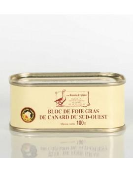 BLOC DE FOIE GRAS DE CANARD DU SUD-OUEST 100 g
