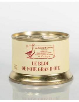 LE BLOC DE FOIE GRAS D'OIE 130 g