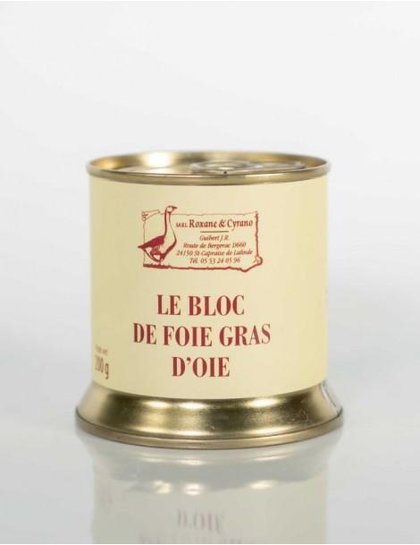 LE BLOC DE FOIE GRAS D'OIE 200 g