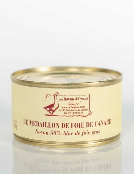 LE MÉDAILLON DE FOIE DE CANARD 130 g Noyau 50% bloc de foie gras