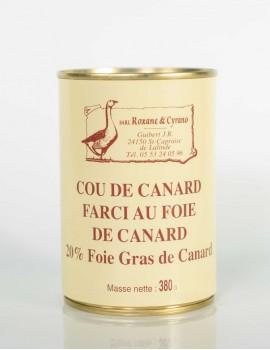 COU DE CANARD FARCIE AU FOIE DE CANARD 20% Foie Gras de Canard