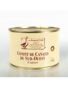 CONFIT DE CANARD DU SUD-OUEST - 5 Cuisses