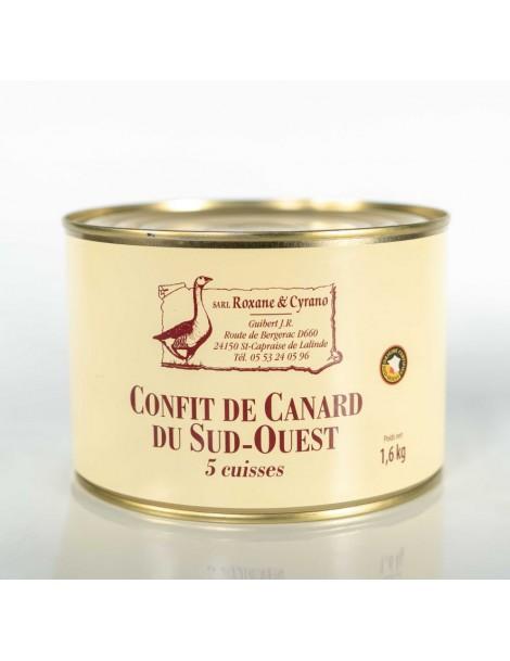 CONFIT DE CANARD DU SUD-OUEST (5 Cuisses)