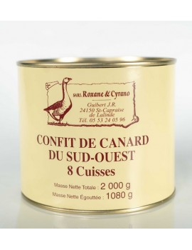 CONFITS DE CANARD DU SUD-OUEST - 8 Cuisses