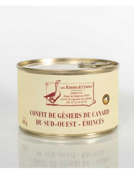 CONFIT DE GÉSIERS DE CANARD DU SUD-OUEST (émincés)