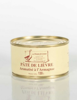 PÂTÉ DE LIÈVRE Aromatisé à l'Armagnac