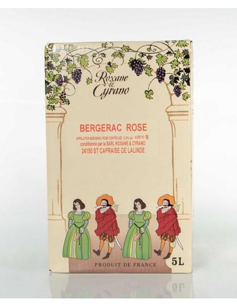 VINIBAG 5L, BERGERAC ROSÉ, ROXANE ET CYRANO