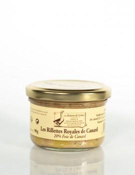 LES RILLETTES ROYALES DE CANARD 90 g (20% Foie de canard)