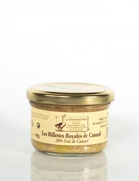 LES RILLETTES ROYALES DE CANARD 20% Foie de canard 90 g