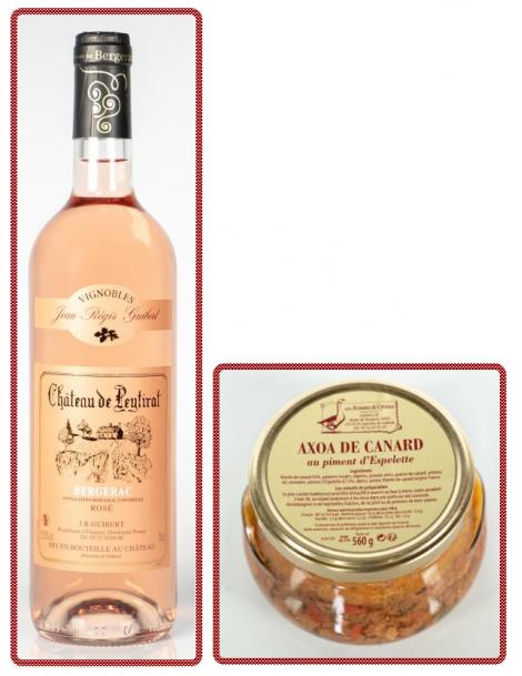 """1 AXOA DE CANARD + 1 Bouteille de Rosé """"Château de Peytirat"""""""